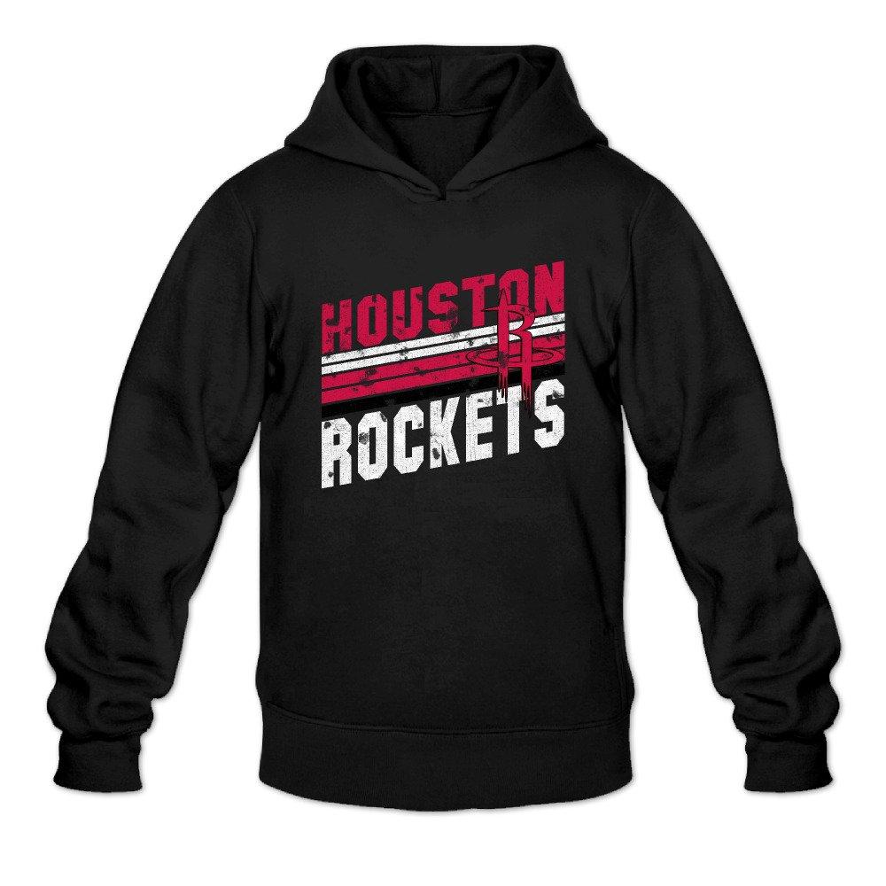 6099eea40ce Cool Men's Houston Rockets Team Stripes Retro Logo Cotton Hoodie Apparel