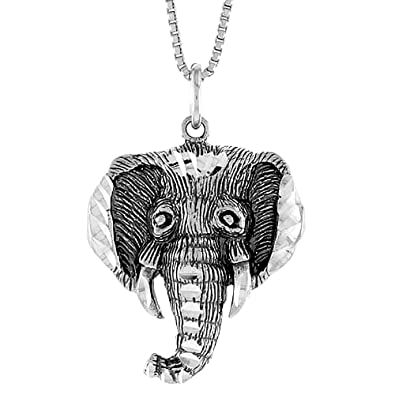 Amazon sterling silver elephant head pendant 1 inch jewelry sterling silver elephant head pendant 1 inch aloadofball Images