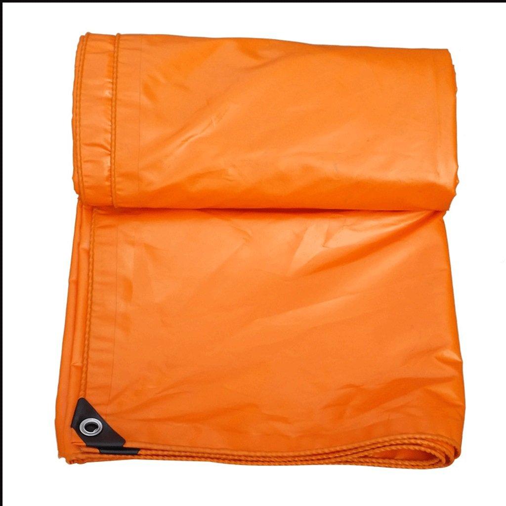 Qing MEI Große Große Große Orange LKW-Plane Leinwand Dachgartenarbeit Falter spezielle Isolierung Frost Tuch PVC-Plane 100% wasserdicht UV A (größe   6x6 Meters) B07JMT174T Zeltplanen Verschleißfest b311e7