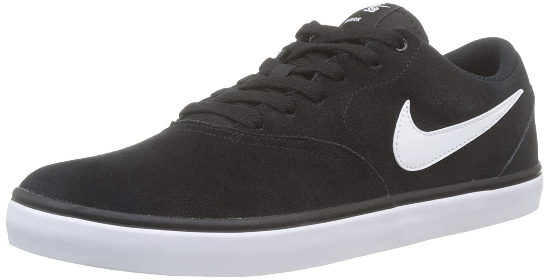 super popular e8c40 f6a1a nike sb white sneakers Nike Men s SB Check Solarsoft Skate Black White  Sneaker .