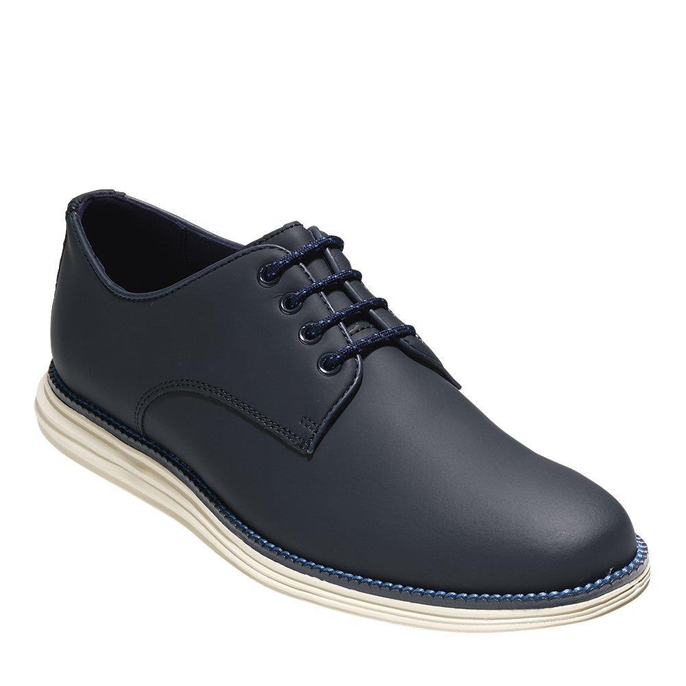 Cole Haan Men's OriginalGrand Plain Toe Oxford 9.5 Blazer Blue Matte Leather