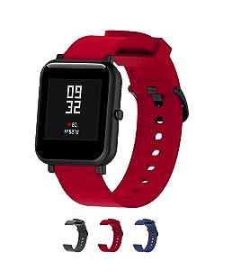 Cinturini per orologi in silicone-Cinturino a sgancio rapido-Cinturini in silicone morbido a sgancio rapido Cinturino di ricambio in pelle-La larghezza è di 20 mm-3 colori-(Red)
