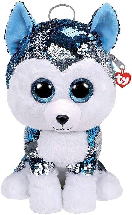 TY– Mochila de Peluche con Lentejuelas de 30 cm, diseño de Perro con el Perro, TY95025, Multicolor: Amazon.es: Juguetes y juegos