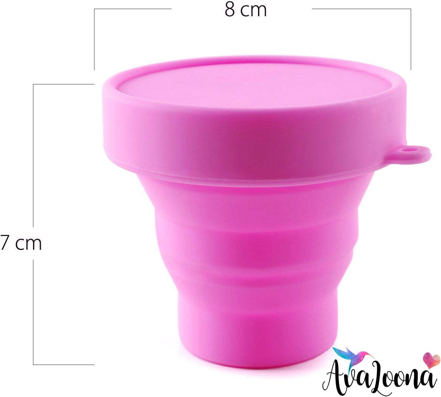 AvaLoona Esterilizador Plegable con Tapa para Copa Menstrual Fabricado en Silicona
