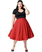 Kilolone Women's Plus Size 50s Vintage Classic Pinup Rockabilly Swing Dress