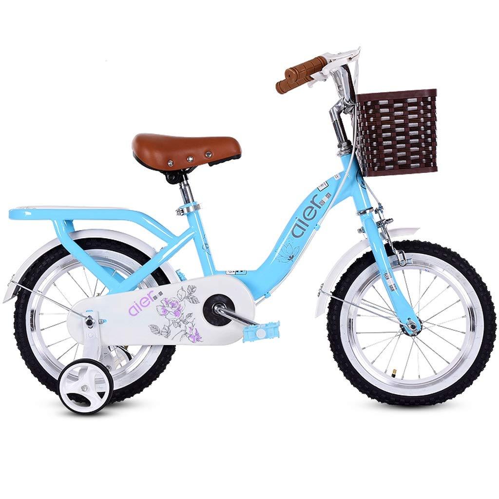 子供用自転車 2~8歳 子供用 自転車 女の子 ペダル自転車 カーボンスチールフレーム 3サイズ(12インチ/14インチ/16インチ) ブルー 12 inches abc123456 B07H5BVP3Y 12 inches  12 inches