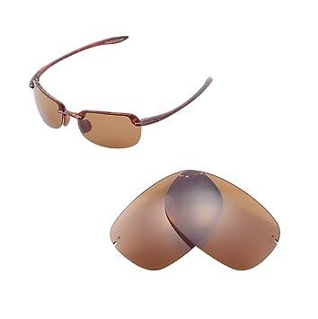 Walleva Ersatzgläser für Oakley Tightrope Sonnenbrille - Mehrfache Optionen (Braun - polarisiert) J7ROnfhU