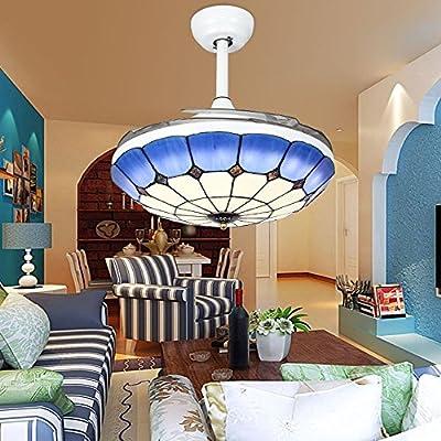 Huston Ventilador estilo mediterráneo ventilador de techo luces ...