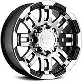 "Vision Warrior 375 Gloss Black Machined Face Wheel (17x8.5""/6x135mm)"