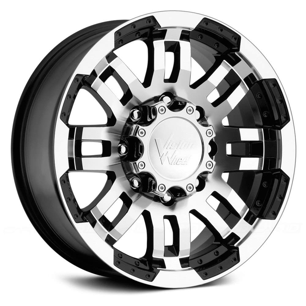 17x8.5//6x135mm Vision Warrior 375 Gloss Black Machined Face Wheel