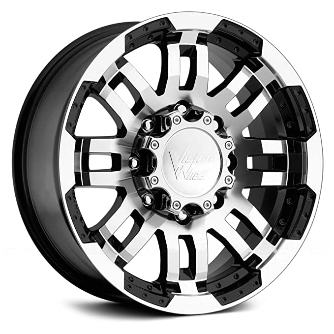 Amazon Com Vision Warrior 375 Gloss Black Machined Face Wheel 16x8
