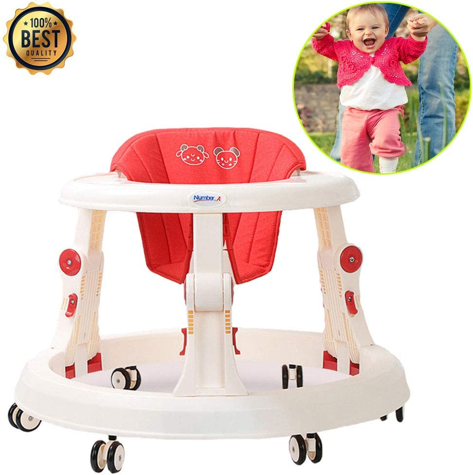 Maximallast 15 kg f/ür M/ädchen Jungen 6-18Months Kleinkind Baby-Lauflernhilfe mit Abkantpresse Anti-Rollover-Walker Anti-O-Bein-Baby-Wanderer ATGL 2 in 1 Baby-Lauflernhilfe