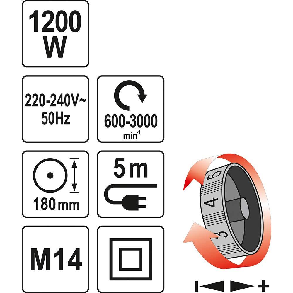 Yato yt-82195/ /Polisher 1200/W 180/mm