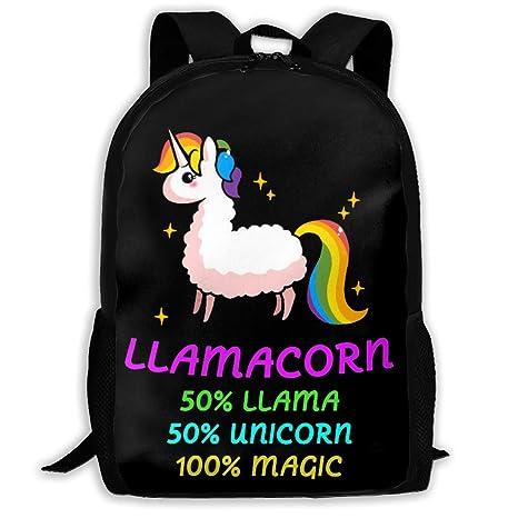 Adult Classic DIY School Backpack Llamacorn Cute Llama Unicorn Multipurpose  3D Printing Casual Backpack College Bags 4e4ad4155713b
