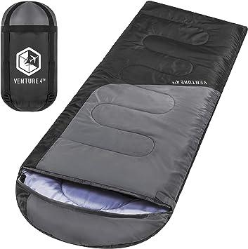 Amazon.com: VENTURE 4TH - Saco de dormir para mochilero ...