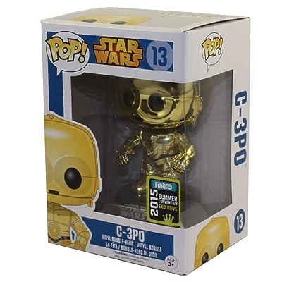 Funko Pop Vinyl Star Wars Metallic C3PO - 2015 Summer Convention Exclusive: Toys & Games