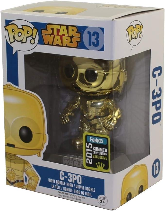 Funko - Figura de vinil Star Wars C-3PO Oro (3245932): Amazon ...
