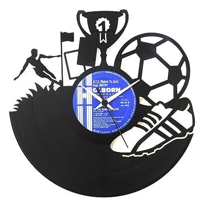 Amazon.com Soccer Gift idea Football player idea Soccer clock Vinyl Clock Wall clock Soccer team Idea for prizes original Made in Italy Home u0026 Kitchen  sc 1 st  Amazon.com & Amazon.com: Soccer Gift idea Football player idea Soccer clock Vinyl ...