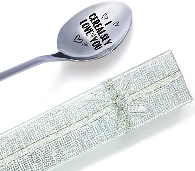 We Cerealsly Love You Spoon NEW MATCHING PATTERN Stainless Steel Flatware Can be Personalized I