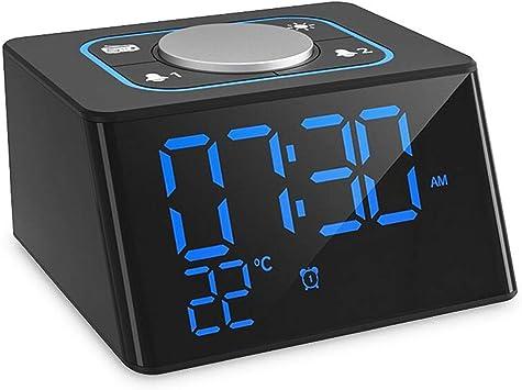 Reloj Radios Dual Snooze Radio FM para Dormitorios y Oficina ...