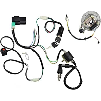 amazon com minireen kick start dirt pit bike wire harness wiring rh amazon com 125cc pit bike wiring loom 125cc pit bike wiring harness