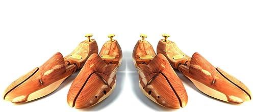 09713a9e Zederello Hormas de zapato y pernitos originales madera de cedro, paquete  doble, tensor para