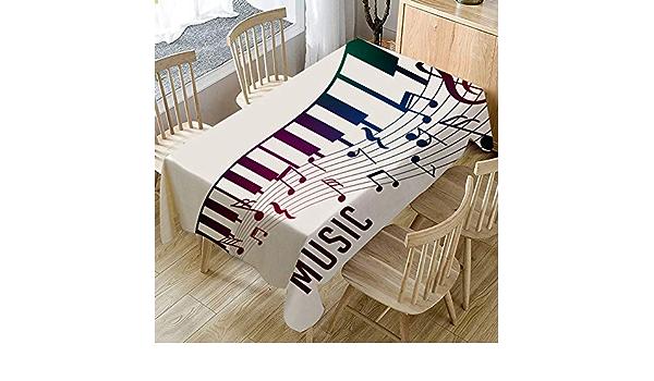 Mantel Moderno Y Sencillo con Estampado De Piano para El ...