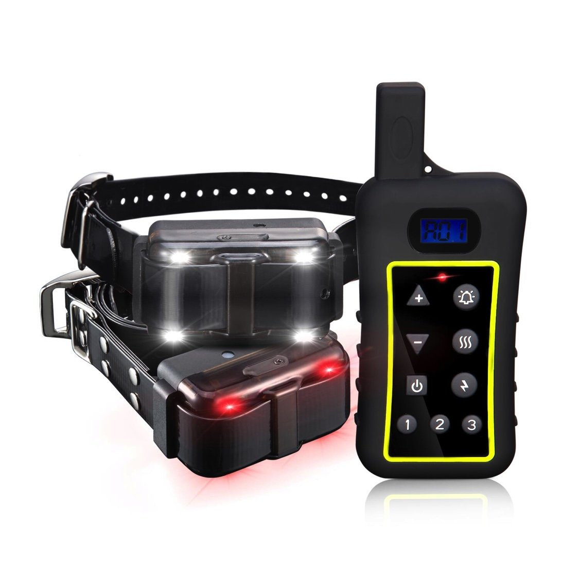Pet Control HQ Remote Dog Training Collar, Waterproof & Rechargeable Pet Training Collar All Size Dogs, Dog Training Equipment With Built-in Automatic Anti Bark Control Suitable for 2 Dogs