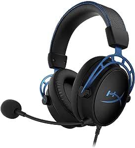 كلاود الفا سماعة راس على الاذن لهواة العاب الفيديو الالكترونية من هايبر اكس , HX-HSCAS-BL-WW