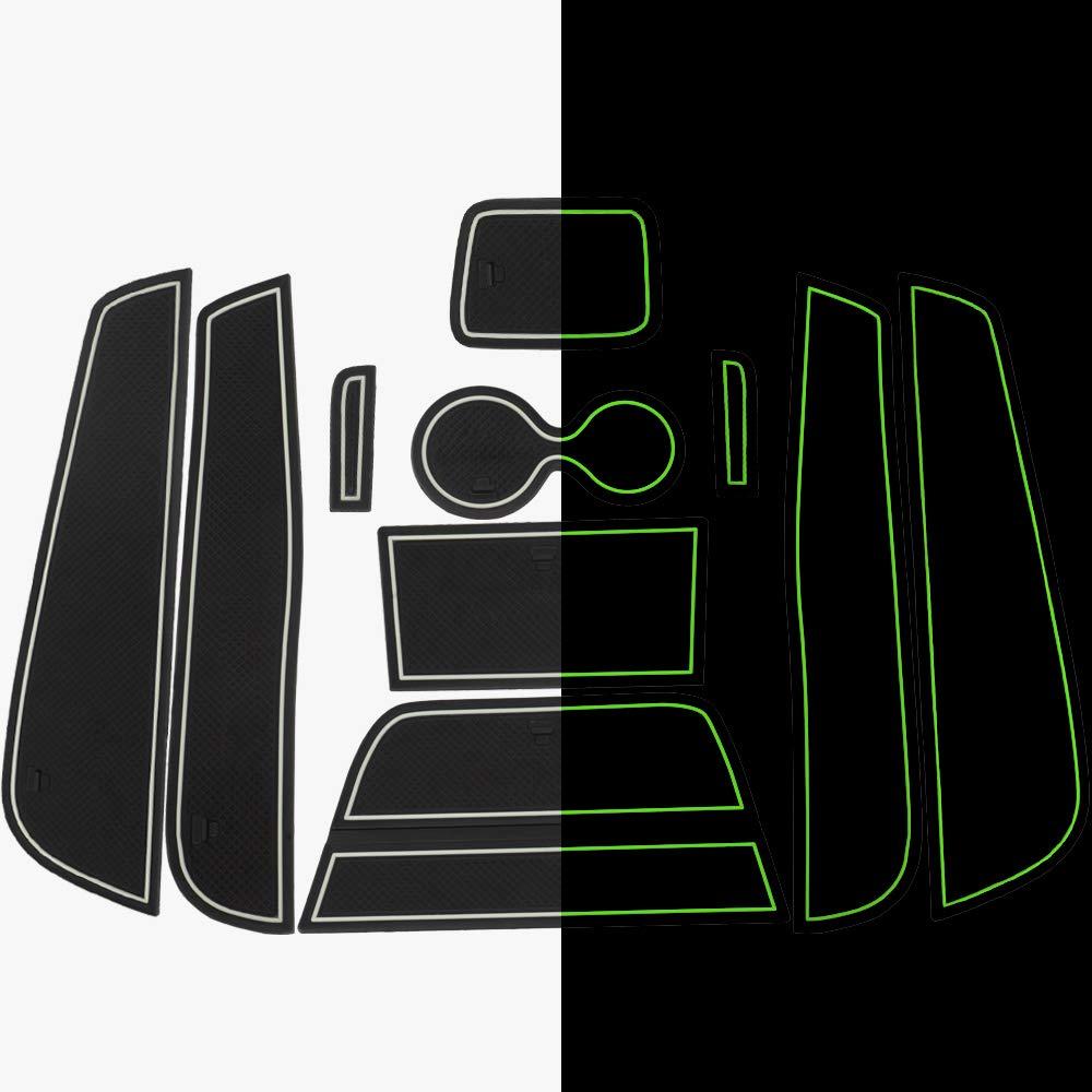 Porte-gobelets Antid/érapant LITTOU 10pcs Anti-poussi/ère Tapis de Rangement sous Fente de Porte D/écoration Automobile pour Captur 2015 2016 Rouge
