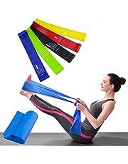 4465a3dd349e Bandas Elásticas Resistencia Ejercicio Set de 6 - Látex Natural Fitness  Bandas para Ejercicio y Terapia
