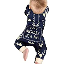 Cute Infant Baby Boy Don/'t Moose With Me Cotton Romper Jumpsuit Bodysuit Witty