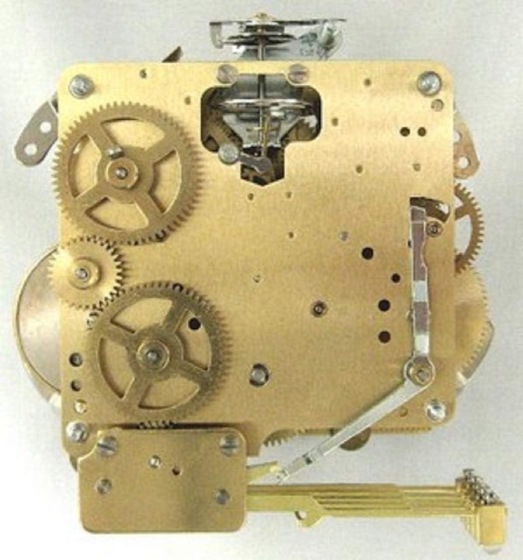 Hermle 340-020 Mantel Clock Movement with Bronze Bushings Bronze