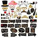 60Pcs Wedding Photo Booth Props Pose Sign Kit for Bachelorette Christmas Holiday Wedding Birthday Party Decoration Supplies