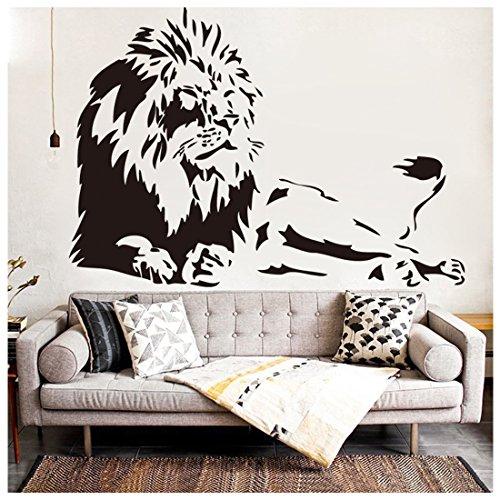 Cheap  ZN African Lion Wall Sticker Vinyl Animal wall art decal Living Room..