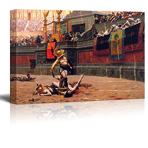 wall26 - Pollice Verso by Jean-Leon Gerome - Canvas Print Wall Art Famous Painting Reproduction - 32