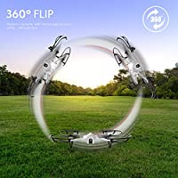 Force1 F100 Ghost GoPro-Compatible Drone - Hero 3 or 4 Camera-Ready Quadcopter w/Brushless Motors for Long, Ultra-Quiet Flight -Camera not Included (Certified Refurbished) by Force1