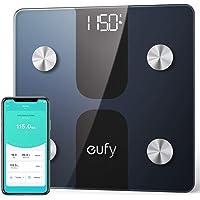 Eufy by Anker C1 Báscula inteligente, bluetooth, 13 Indicadores Físicos, pantalla LED, Conexión Apple Health, Google Fit y Fitbit, encendido/apagado automático.