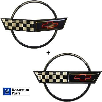 C4 Corvette Center Cushion Pad Black with Emblem Fits 90 Through 96 Corvettes