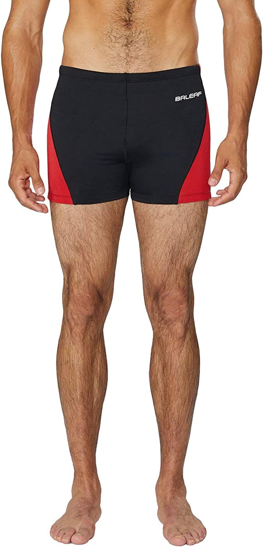 Baleaf Mens Square Cut Boxer Brief Gradient Color Swimwear