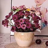 LVLIDAN Artificial Flowers Flora Home Accessories in pots European style silk arrangement Ceramic vase plastic purple