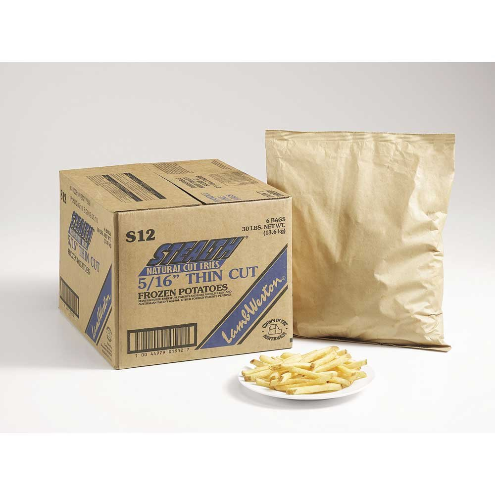 Lamb Weston Stealth Natural Thin Regular Cut French Fry, 5 Pound -- 6 per case.