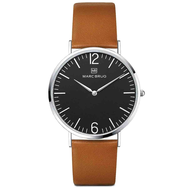 Marc brÜg Herren Armbanduhr Minimalist Paddington 41 schwarz
