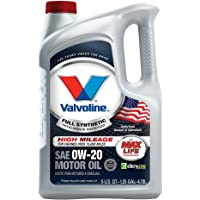 Valvoline Full Synthetic with MaxLife Technology SAE 0W-20 Motor Oil-5 Quart Bottle 852399, 160. Fluid_Ounces