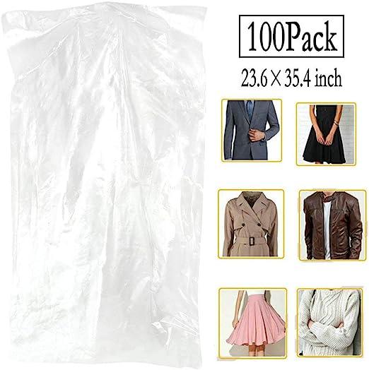 1 Roll 200 Garment Cover Polythene Bags 60/'/' 100 gauge 10 kg  Cloth Textile