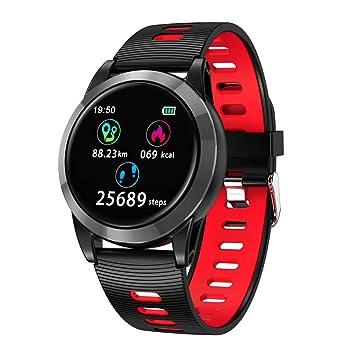 Oasics Smart Watch Impermeable IP68 Smart Watch Pulsera Deporte Podómetro Ritmo Cardíaco Sueño Tensiómetro Monitor de Sueño para Android y iOS, ...