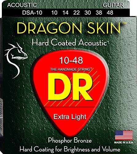 DR Strings DRAGON SKIN Acoustic Guitar Strings (DSA-10)