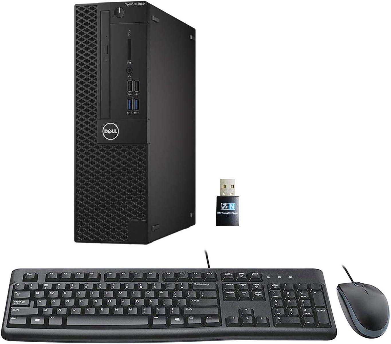 Dell Optiplex 3050 SFF Desktop PC, Intel i5-6500 3.2GHz 4 Core, 8GB DDR4, 256GB SSD, WiFi, Win 10 Pro, Keyboard, Mouse (Renewed)