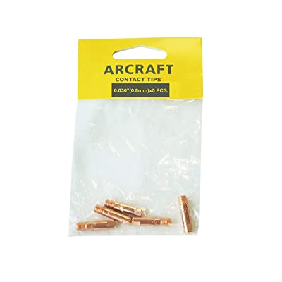 ARCRAFT MIG Welding Contact Tip 0.030-in, for Binzel/Harbort/Tweco/Arcraft Style MIG Guns