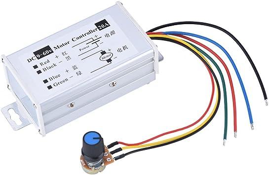 DC 9-60V 12V 24V 36V 48V 10A PWM DC Motor Speed Controller Switch Speed Switch